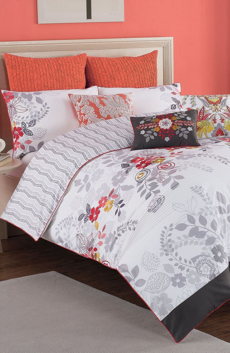 Bedroom decorating idea: Paint a wall a bright color for a headboard accent.