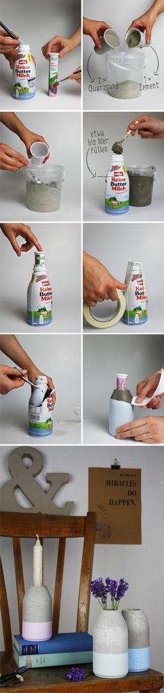 Florero DIY de hormigón