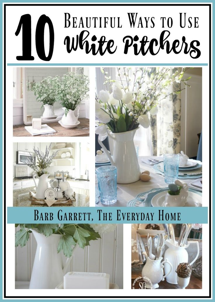 There is nothing more versatile than a White Farmhouse Pitcher, and The Everyday Home shares 10 beautiful ways to use them in your home.