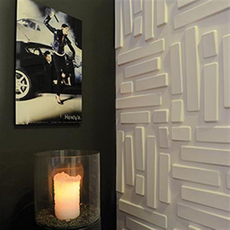 set de paneles con relieve para pared bricks