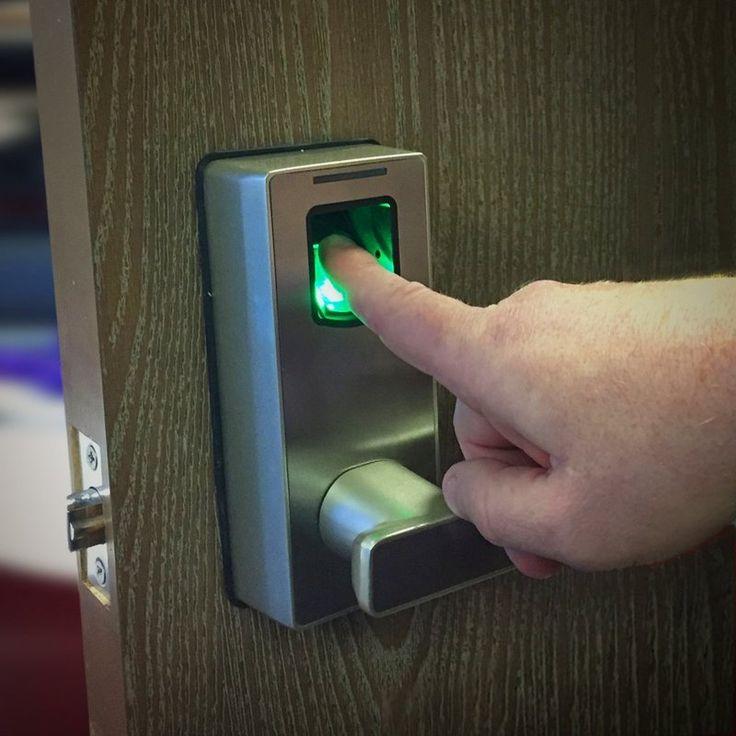Love this biometric fingerprint door lock ( #gadget #technology #security )