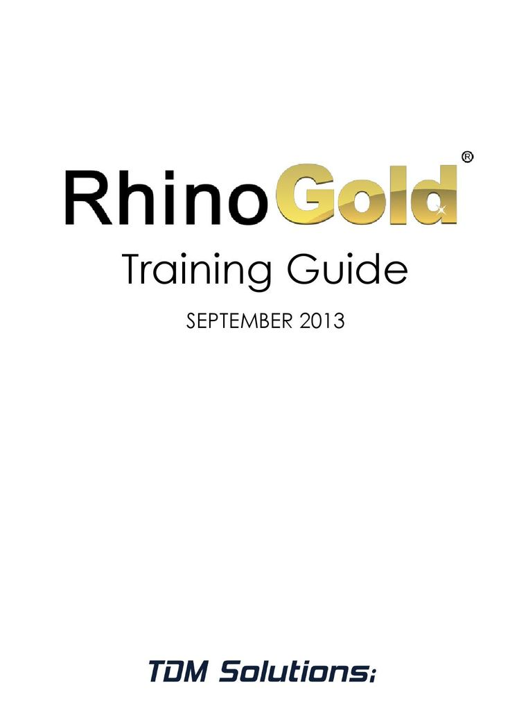 RhinoGold 4.0 Training Guide  the right way to become a 3D expert in the jewelry market