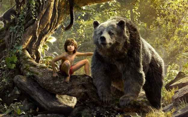 "The Cast Of ""The Jungle Book"" Posed With Their Onscreen Animals"
