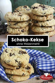 Ein tolles Rezept für Schokoladenkeksen ohne Weizenmehl. Wir haben diese Kekse mit unserem besten Maismehl gebacken.