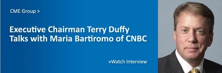 2/16/2012- CME Group Executive Chairman Terry Duffy talks with Maria Bartiromo of CNBC.