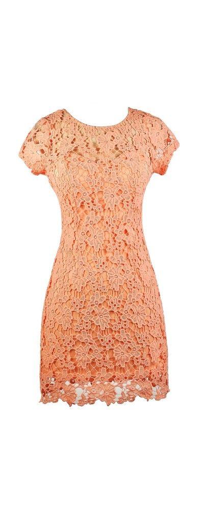 Lily Boutique Forest Foliage Crochet Lace Dress in Peachy Pink, $48 Coral Pink Crochet Lace Dress, Peach Crochet Lace Sheath Dress, Coral Crochet Lace Dress, Peach Pink Lace Sheath Dress, Cute Lace Dress, Coral Lace Dress, Coral Lace Summer Dress www.lilyboutique.com