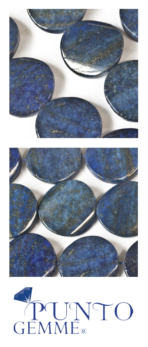 Flat round of lapis 30mm #lapis #gemstone #gemmopoli