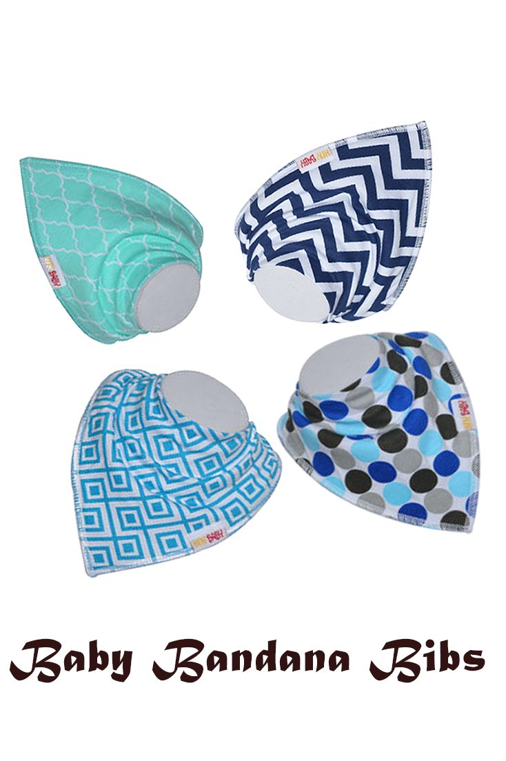 Awesome and easy to use Baby bandana Bibs   -by  hnybaby.
