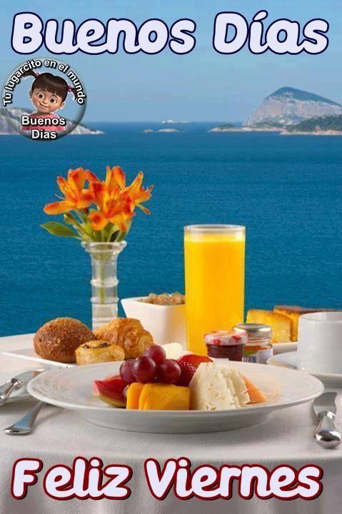 Viernes imagen #10218 - Buenos Días, Feliz Viernes Tags: Buenos Dias, Desayuno, Felicidad, Feliz, Manana, Mar, Paisaje.