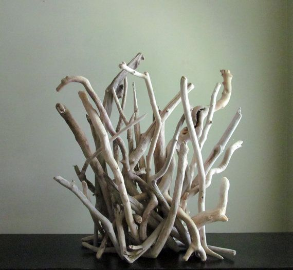 IN STOCK - Large Bleached Driftwood Mantle Sculpture ...