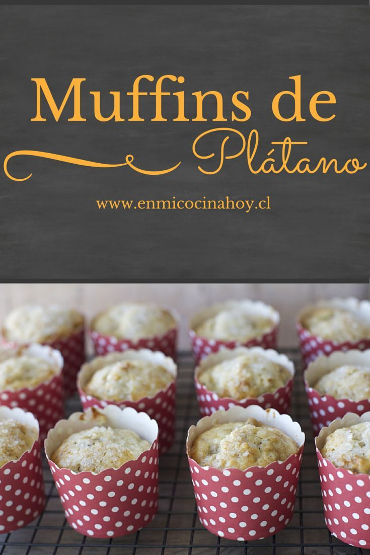 Esponjosos y de suave sabor, estos muffins de plátano son deliciosos y muy fáciles de hacer.