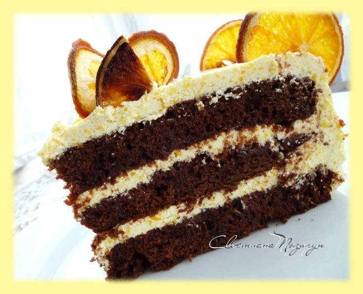 апельсиновый бисквитный торт