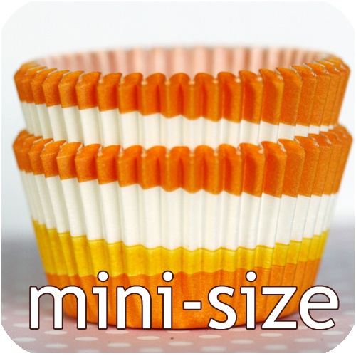 Perfect for Fall baking. Bake It Pretty - Mini-Size Orange Tilt-a-Whirl Baking Cups