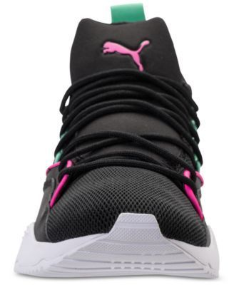 fd30fc8d53c Puma Women s Muse Maia Varsity Casual Sneakers from Finish Line - Black 9.5   Sneakers
