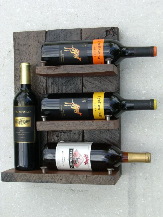 5th Wedding Anniversary Gift {wood} Wine Rack Upcycled Wine Rack Rustic Wine  By ReclaimedRedwood Part 83