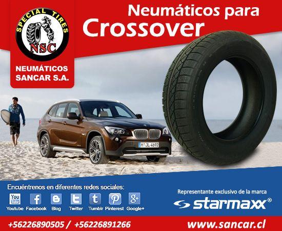 en www.sancar.cl encontrará las mejores marcas y modelos Neumáticos para Crossover También en redes sociales