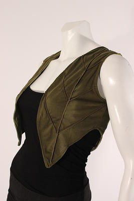 Leaf vest! mishuboutique | Tops Always nice to see ideas for integrating nature inspiration into outfits!