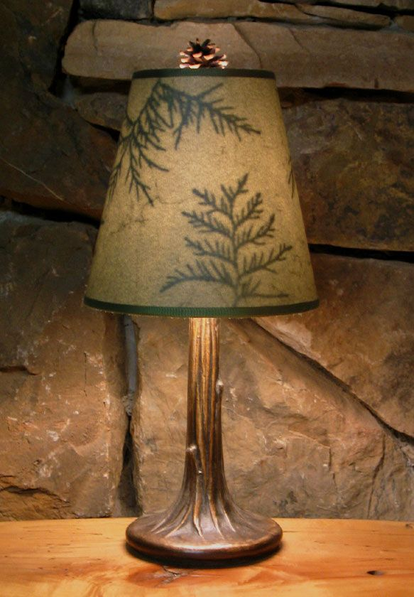 Beautiful Homemade Lamps : These beautiful lamps are handmade in the adirondacks by