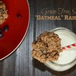"Grain-Free, Sugar-Free ""Oatmeal"" Raisin Cookies (Egg-Free Option)"