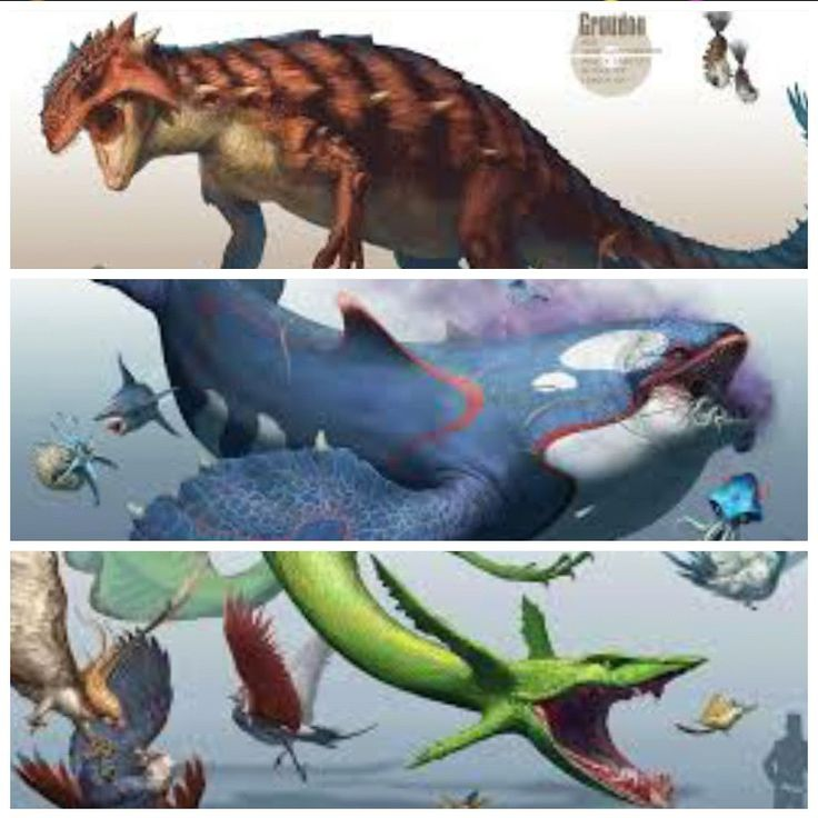 pokemon groudon and kyogre and rayquaza