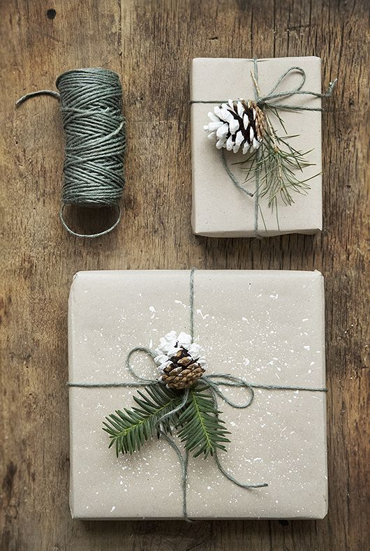 Christmas gift wrap with Panduro products by http://www.Trendenser.se