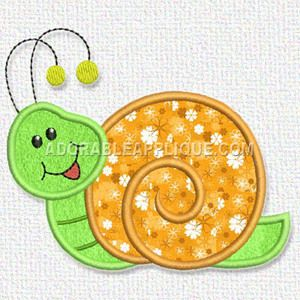 Free Embroidery Design: Snail | Free Embroidery Designs