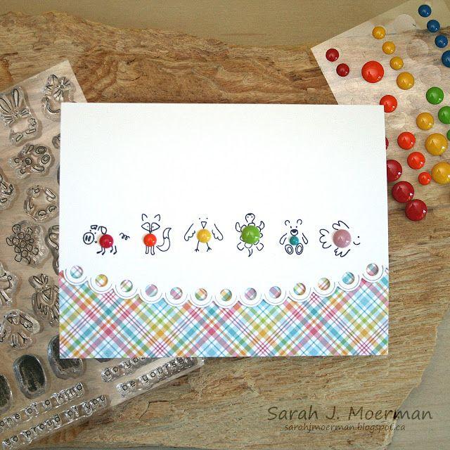 My Impressions: Simon Says Stamp Enamel Animals Card