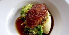 Fabulous Norfolk Roast Norfolk Gressingham Duck Breast Recipe. red wine, bay leaf, thyme, Savoy cabbage