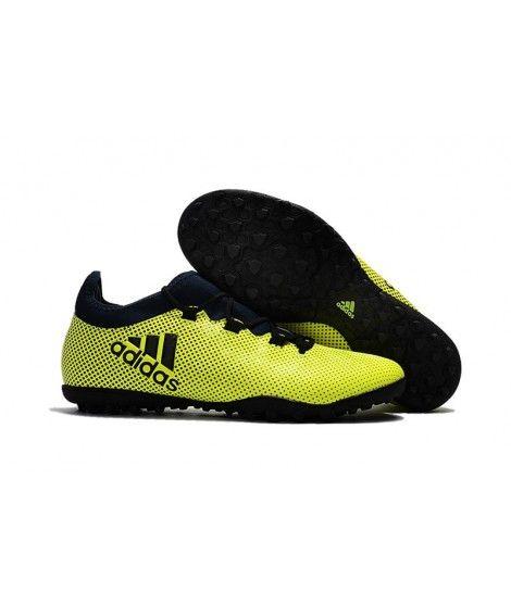 Adidas X 17.1 TF STEVIGE ONDERGROND Voetbalschoenen Geel Zwart