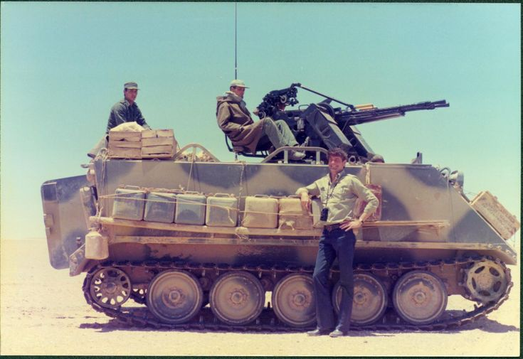 Moroccan M113A1 modified with ZPU-2 during Western Sahara War.