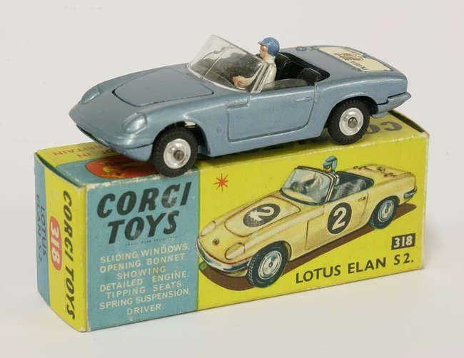 Corgi: Lotus Elan S2 318, original box, late 1960s. £70 - £100 04/07/17
