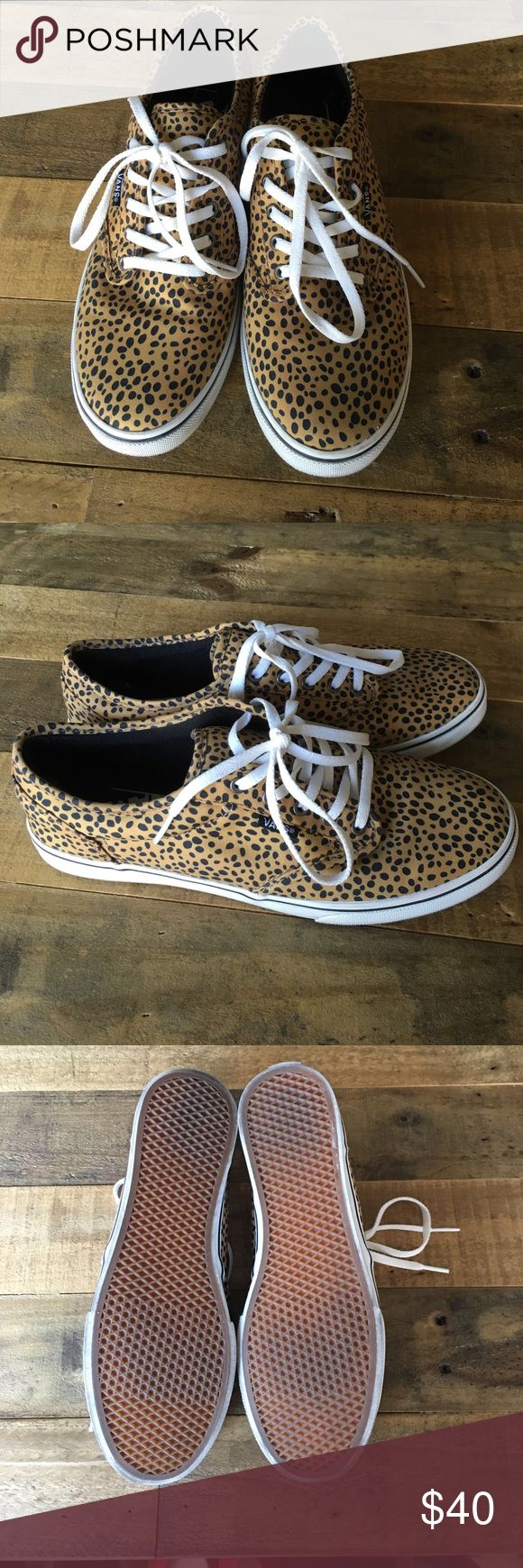 Vans Animal Print Sneakers Size 7.5 Womens Animal print vans. Only wore these once! Perfect condition. Size 7.5 in women's Vans Shoes Sneakers