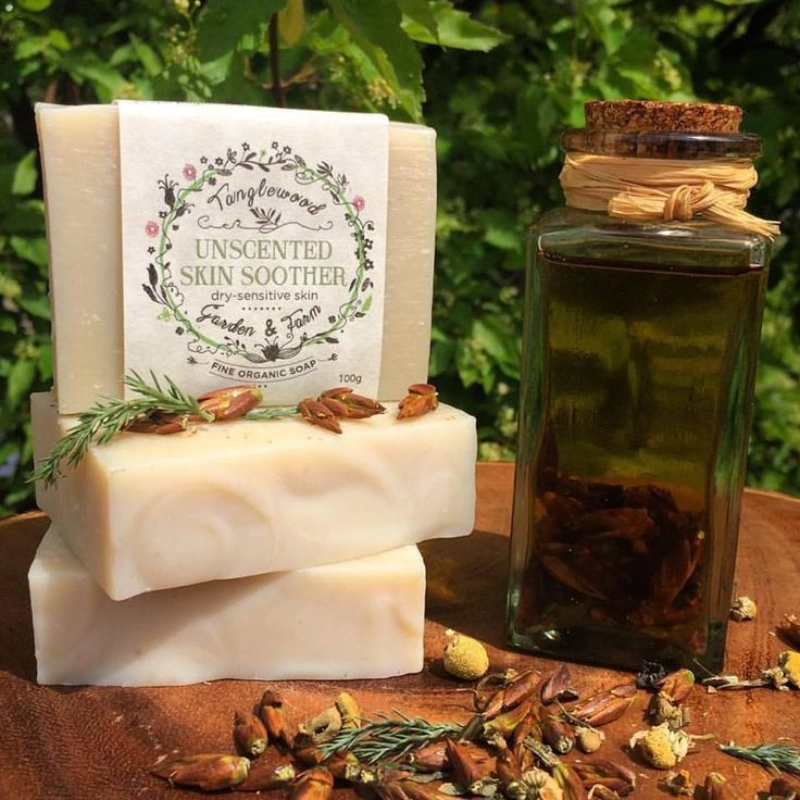 Canadian Herbal Unscented Skin Soother~ Organic Soap – Tanglewood Garden & Farm Fine Organic Herbal Soap