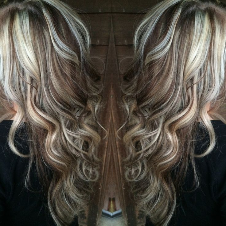 Platinum Blonde highlights with chocolate brown lowlights