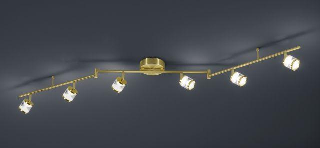 CASSINI Trio - bodová LED stropnica - 1620mm - matná mosadz