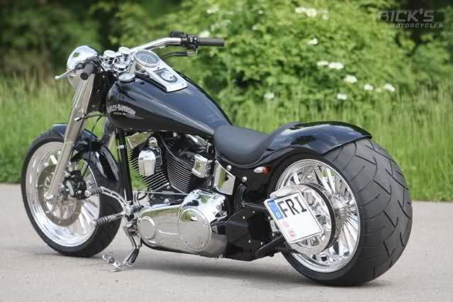 Harley Davidson Fatboy fat tail conversion - Google Search