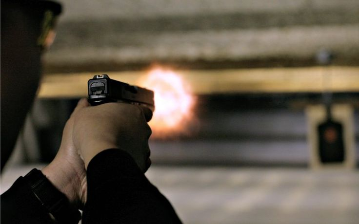 Virginia Senate Kills Bill Allowing Concealed-Carry Without Permit. A man, who declined to be named, fires his Glock 9 mm pistol at the Maryland Small Arms Range in Upper Marlboro, Maryland, April 17, 2007.