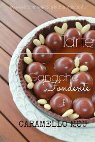 Tarte al cioccolato fondente e caramello