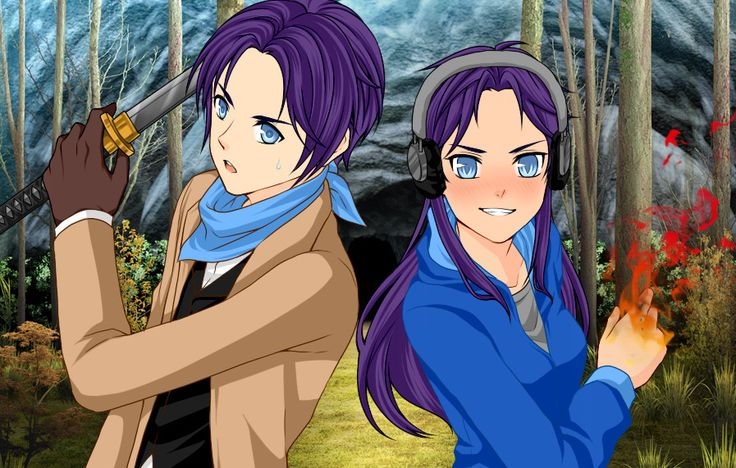 Trunks and Raven, the gemini