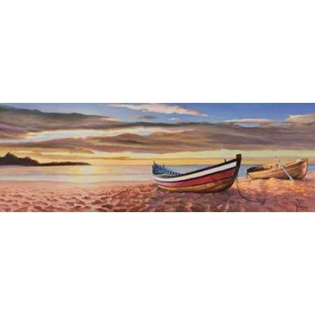 Posterazzi Alba sulla spiaggia Canvas Art - Adriano Galasso (10 x 20)