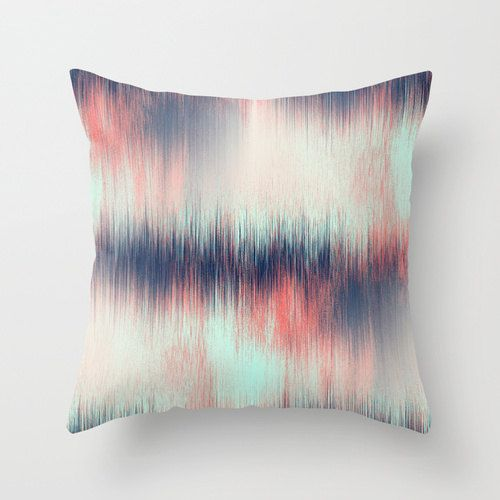 Throw Pillow Cover Coral Pillow Cover Navy by HLBhomedesigns