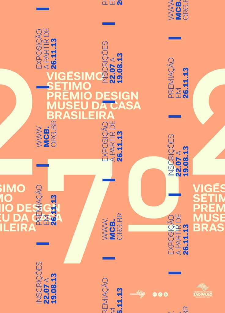 ✖✖✖ Cartaz vencedor do 27º Prêmio de Design Museu da Casa Brasileira. ✖✖✖
