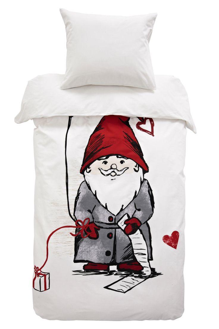 HAPPY SANTA påslakanset 2 delar - Vit - Sängkläder - Jotex.se
