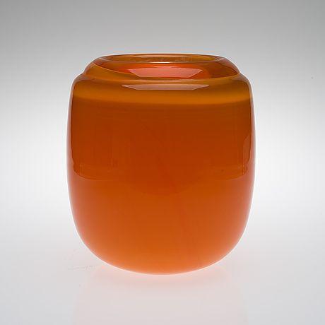 "TIMO SARPANEVA - Art glass bowl ""Heals"" (h. 28 cm) for Iittala c. 1967, Finland."