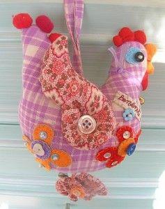 Tutorial gallina cucito creativo