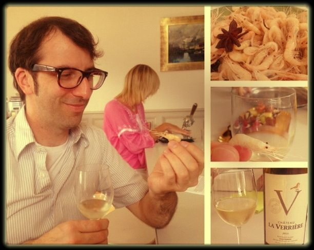 White Bordeaux does not only pair with shrimp, but the tiniest of shrimp. At Chateau Sainte Barbe, Bordeaux