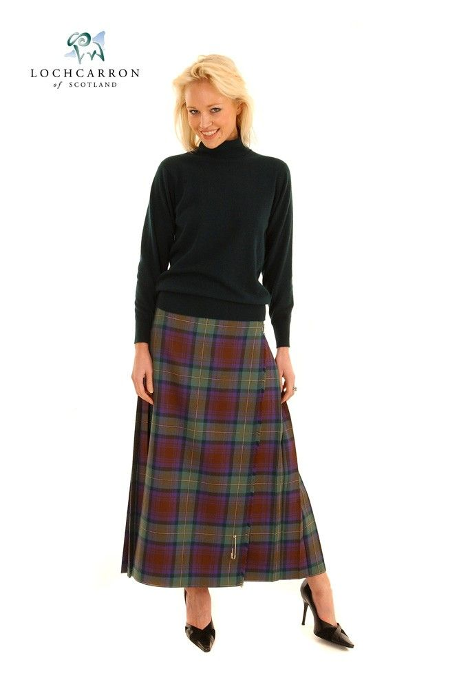 Cool  About Ladies Womens Elasticated Waist Tartan Skater Skirt UK Size 814