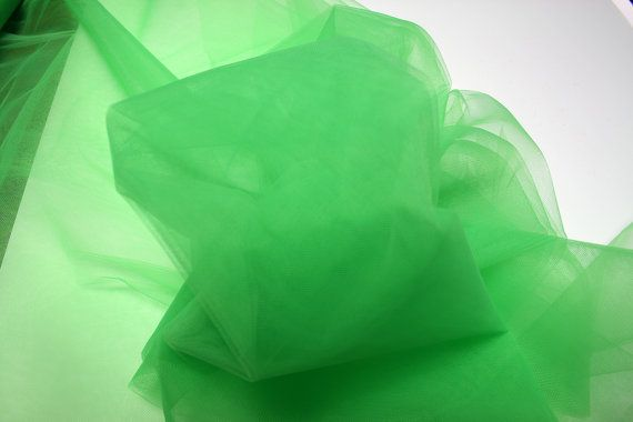 300cm 118 Bright Green Tulle fabric Netting by BodikianTextiles