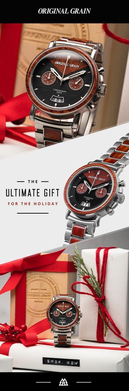 """Nothing screams classy like our """"Redline Chrono"""" uniquely fitted with Rosewood and perfectly paired with brushed steel."""