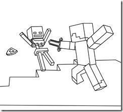 Resultado de imagen para minecraft para colorear